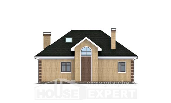 150-013-L Two Story House Plans with mansard roof, economical House Plans,