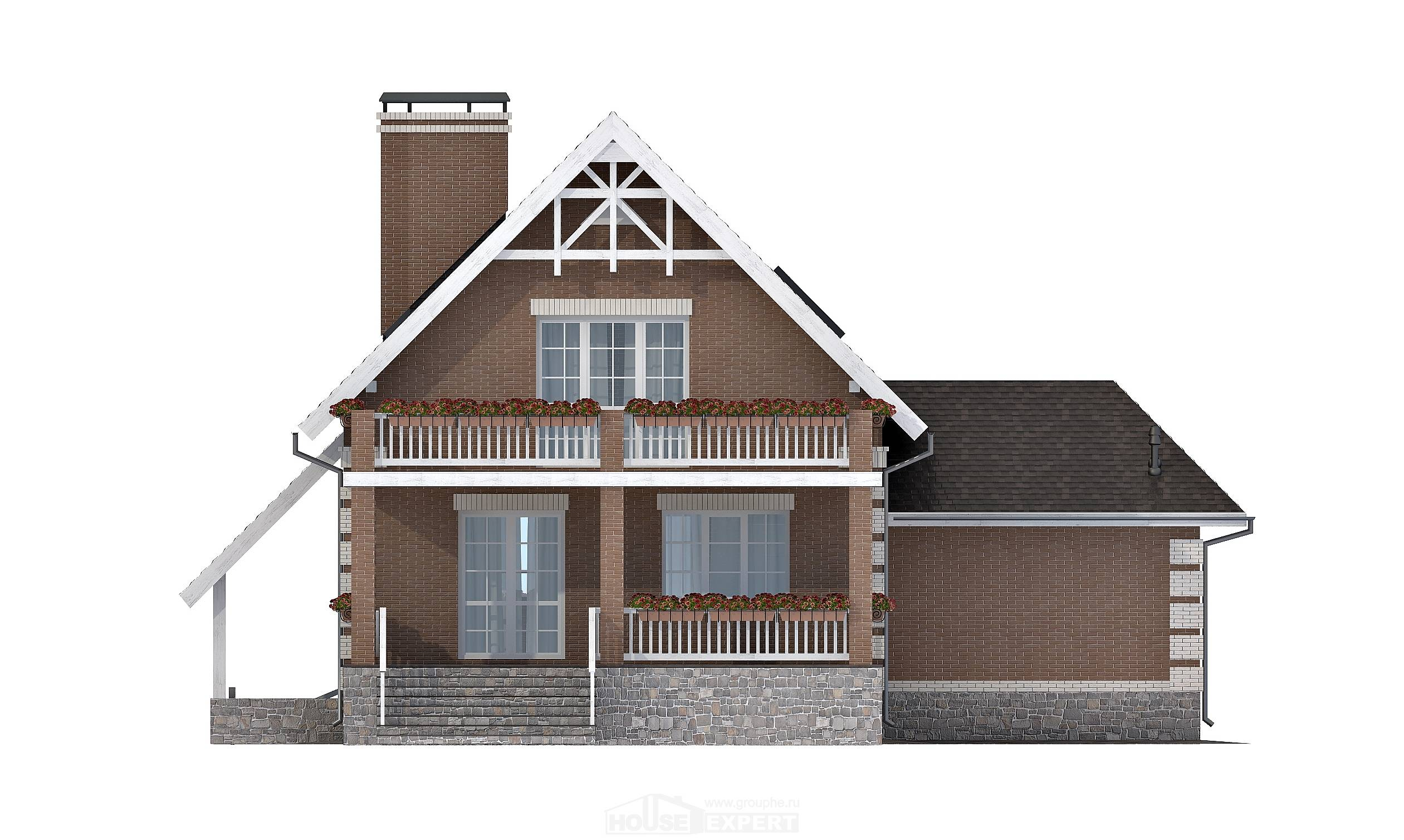200-009-L Three Story House Plans and mansard with garage in back, modern House Plans