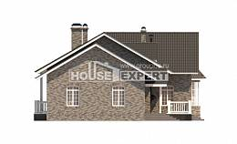 195-001-R One Story House Plans, luxury Home Blueprints,