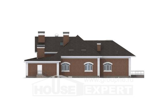 400-003-R Two Story House Plans with mansard roof, modern House Planes,
