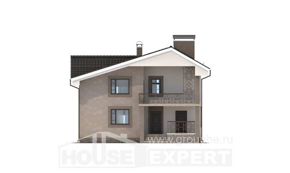 210-003-R Two Story House Plans with mansard roof, luxury Dream Plan,