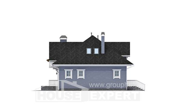 200-001-R Two Story House Plans with mansard roof with garage under, beautiful House Building, House Expert