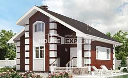 115-001-R Two Story House Plans with mansard roof, a simple Blueprints,