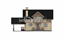 150-011-L Two Story House Plans and mansard and garage, modest Online Floor,