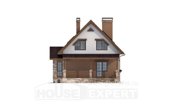 140-002-R Two Story House Plans with mansard, classic Models Plans, House Expert