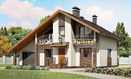 180-008-L Two Story House Plans with mansard roof with garage, luxury Plan Online,