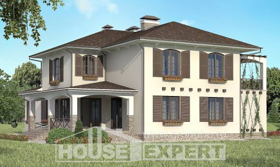 285-002-R Two Story House Plans with garage under, best house Design Blueprints,