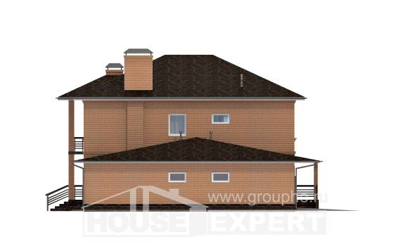 245-003-L Two Story House Plans with garage in back, cozy Architects House,