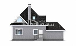 135-001-L Two Story House Plans and mansard with garage, inexpensive Ranch,