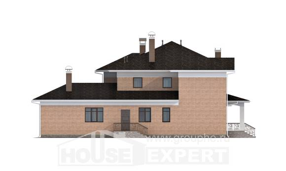 520-001-R Three Story House Plans, beautiful Home Blueprints,