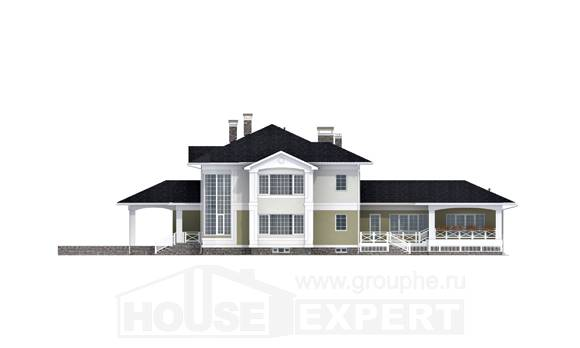 620-001-L Three Story House Plans and garage, classic Blueprints, House Expert