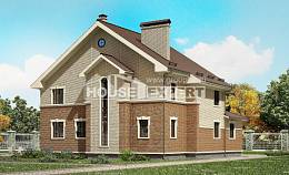 300-004-L Two Story House Plans, big Building Plan,