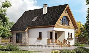 140-001-L Two Story House Plans with mansard, classic House Building