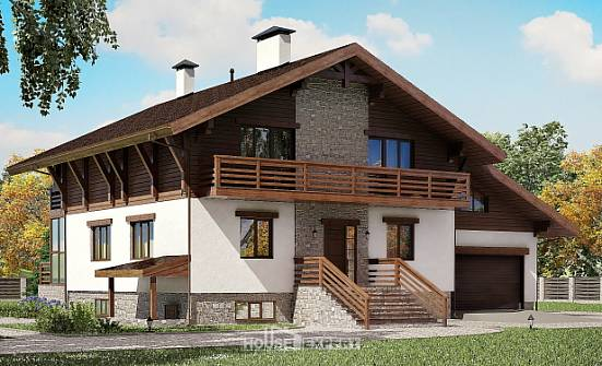 420-001-R Three Story House Plans and mansard with garage under, cozy Planning And Design,
