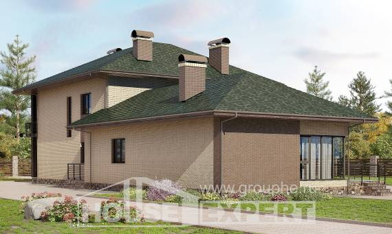 305-003-R Two Story House Plans, modern Architects House, House Expert
