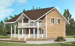 130-001-R Two Story House Plans with mansard roof, a simple Ranch