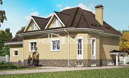 400-001-R Three Story House Plans with mansard with garage, a huge Blueprints of House Plans, House Expert