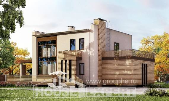 220-003-L Two Story House Plans with garage under, spacious Architectural Plans