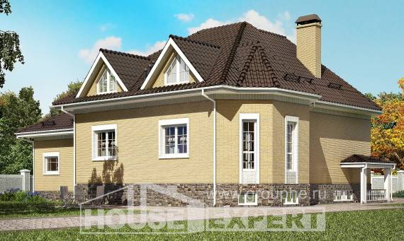 400-001-R Three Story House Plans with mansard with garage, a huge House Plans,