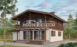 180-018-L Two Story House Plans and mansard and garage, the budget House Planes, House Expert