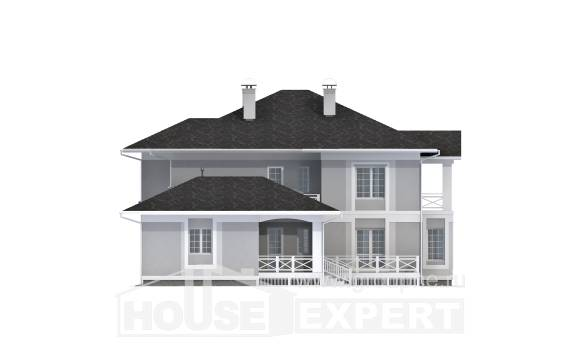 360-001-R Two Story House Plans with garage in front, modern Tiny House Plans,
