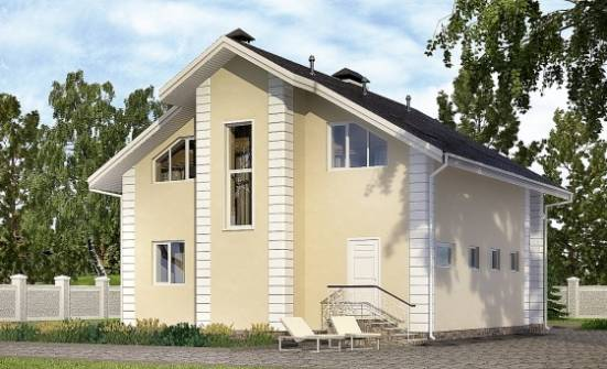 150-002-L Two Story House Plans with mansard roof, cozy Architects House, House Expert