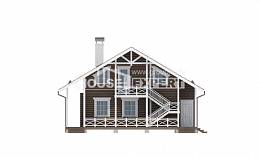 080-001-R Two Story House Plans with mansard roof, small Plan Online,