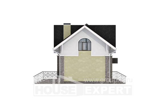 150-012-R Two Story House Plans with mansard, modest Online Floor,