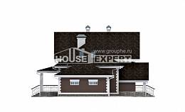 190-003-L Two Story House Plans with mansard with garage in back, best house Floor Plan,