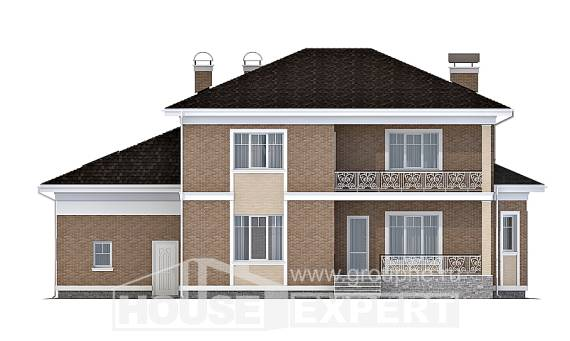 335-002-R Two Story House Plans with garage in back, spacious Woodhouses Plans,