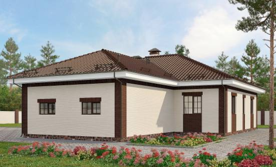 160-015-R One Story House Plans with garage, classic Home House,