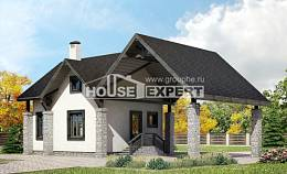 060-001-R Two Story House Plans with mansard with garage in back, economical Woodhouses Plans, House Expert