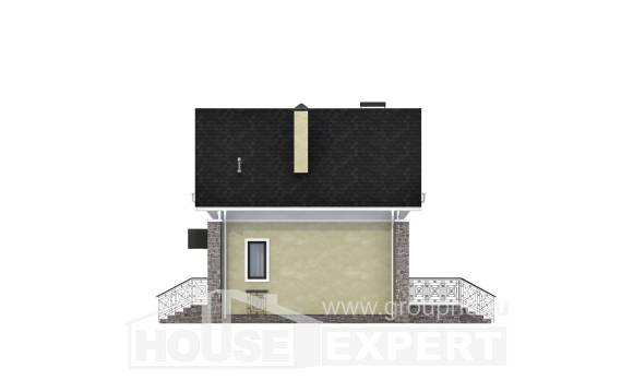 150-012-R Two Story House Plans with mansard, modern Building Plan,