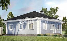 100-001-R One Story House Plans, inexpensive Design Blueprints,