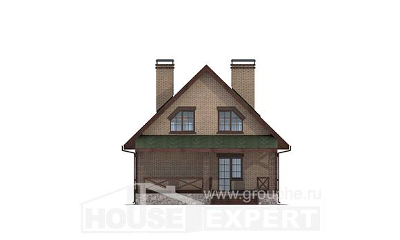 160-011-R Two Story House Plans with mansard roof, cozy Architect Plans,