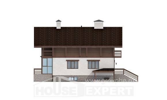 420-001-R Three Story House Plans with mansard roof and garage, luxury Plans Free, House Expert