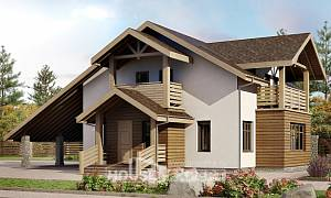 155-010-L Two Story House Plans and mansard with garage, available Blueprints of House Plans