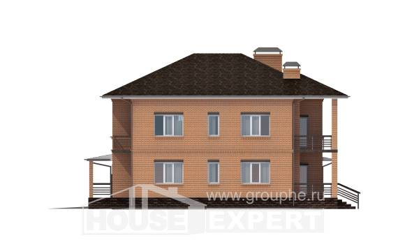 245-003-L Two Story House Plans and garage, classic Planning And Design,