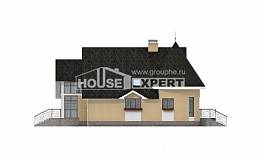 250-001-L Two Story House Plans and mansard with garage in back, beautiful Woodhouses Plans,