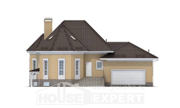 400-001-R Three Story House Plans with mansard with garage, big House Plan,