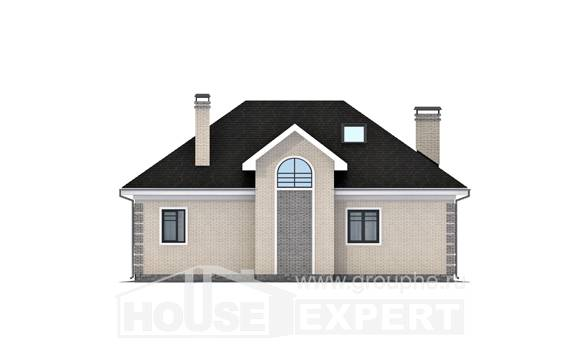 150-013-R Two Story House Plans and mansard, compact Design House,