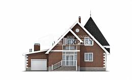 220-002-L Two Story House Plans and mansard with garage, a simple House Planes,