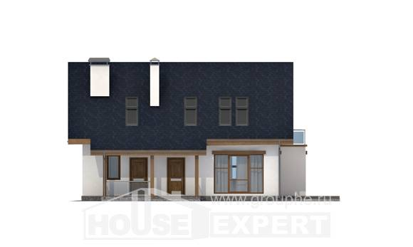 155-012-R Two Story House Plans with mansard roof, the budget Home House