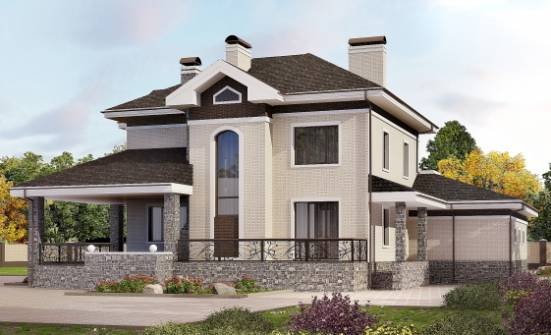 365-001-L Two Story House Plans with garage under, a huge Online Floor, House Expert