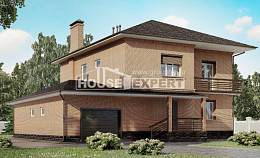 245-003-L Two Story House Plans and garage, cozy Custom Home,