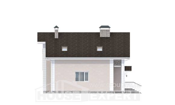 150-002-R Two Story House Plans with mansard roof and garage, cozy House Blueprints,