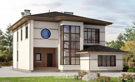 345-001-R Two Story House Plans, cozy Home Blueprints,