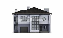 300-006-L Two Story House Plans with garage in back, classic House Planes,