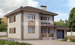 185-004-R Two Story House Plans with garage, modern Construction Plans,
