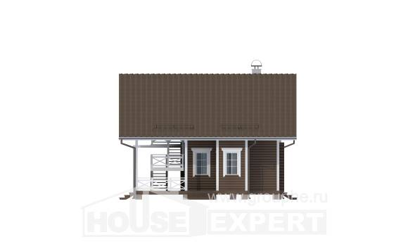 080-001-R Two Story House Plans with mansard, a simple House Online,